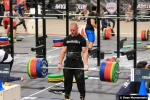 ProAnox Athlete Liam Holborn deadlifting 250kg at the 2015 Athlete Games